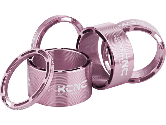 "KCNC Hollow Design Headset Spacer 1 1/8"" 3/5/10/14/20mm, pink bling edition"